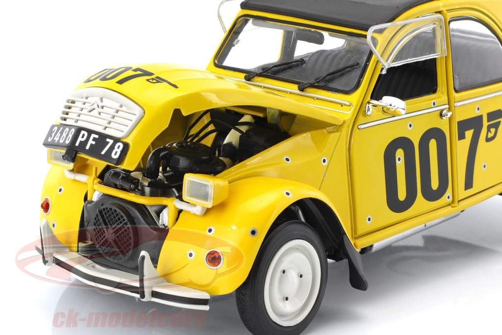 Citroen 2CV James Bond 007 1981 jaune / noir 1:18 Solido