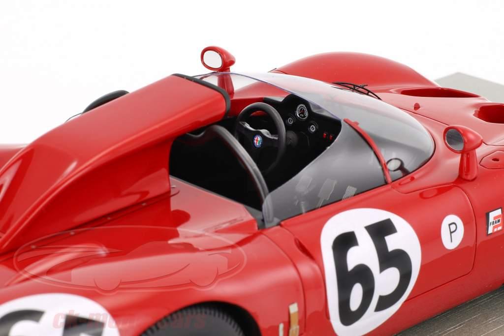 Alfa Romeo 33.2 Periscopio #65 12h Sebring 1967 de Adamich, Zeccoli 1:18 Tecnomodel