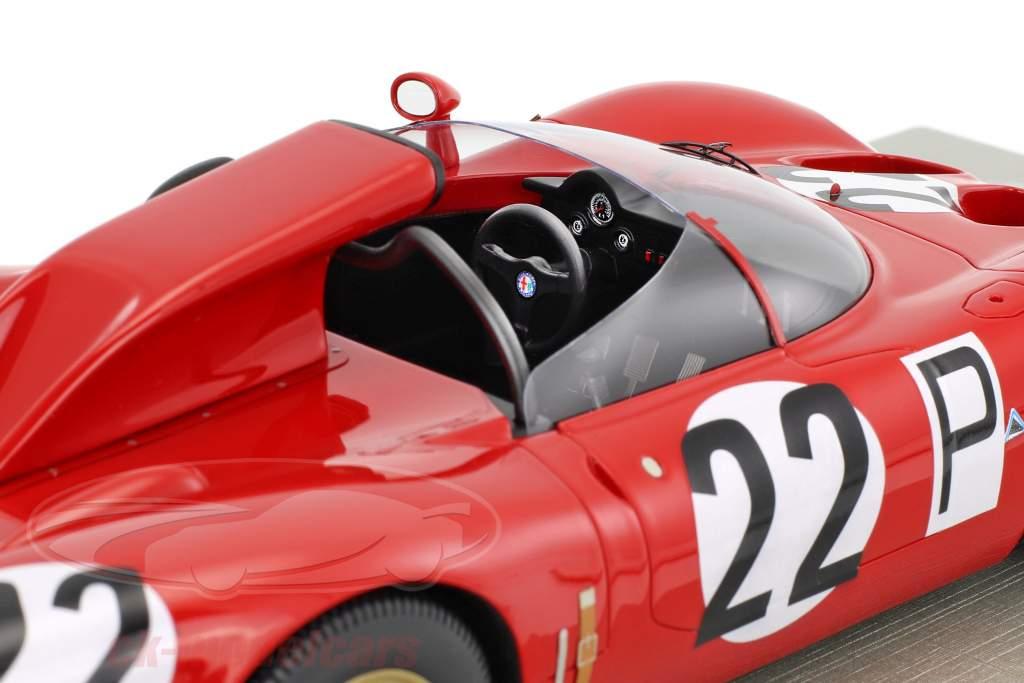 Alfa Romeo 33.2 Periscopio #22 1000km Nürburgring 1967 Bussinello, Zeccoli 1:18 Tecnomodel