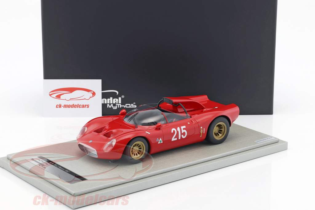 Alfa Romeo 33.2 Periscopio #215 Winner Bergrennen Fleron Belgium 1967 Zeccoli 1:18 Tecnomodel