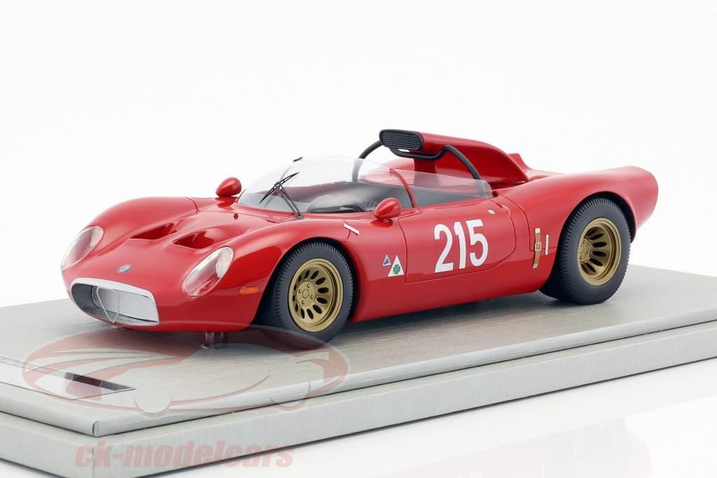 Alfa Romeo 33.2 Periscopio #215 vincitore Bergrennen Fleron Belgio 1967 Zeccoli 1:18 Tecnomodel