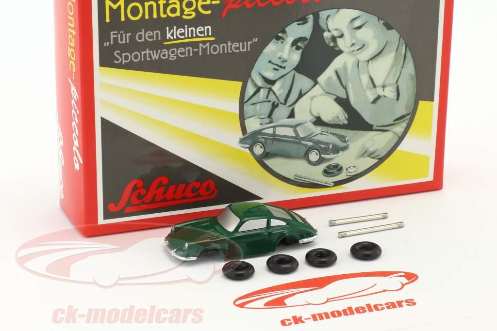 Porsche 911 verde caso di assemblaggio 1:90 Schuco Piccolo