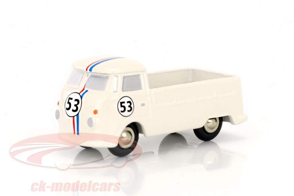 Volkswagen VW T1 platform truck #53 white 1:90 Schuco Piccolo