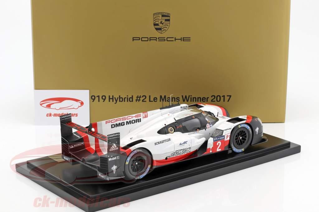 Porsche 919 Hybrid #2 Winner 24h LeMans 2017 Bernhard, Hartley, Bamber 1:18 Spark