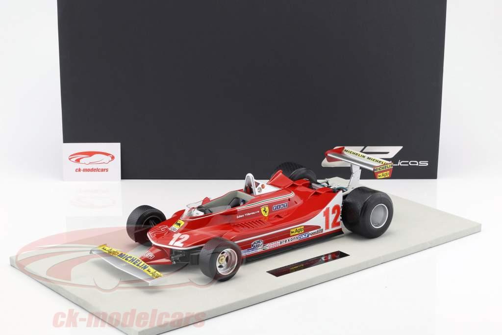 Gilles Villeneuve Ferrari 312T4 #12 2nd Formel 1 1979 1:12 GP Replicas