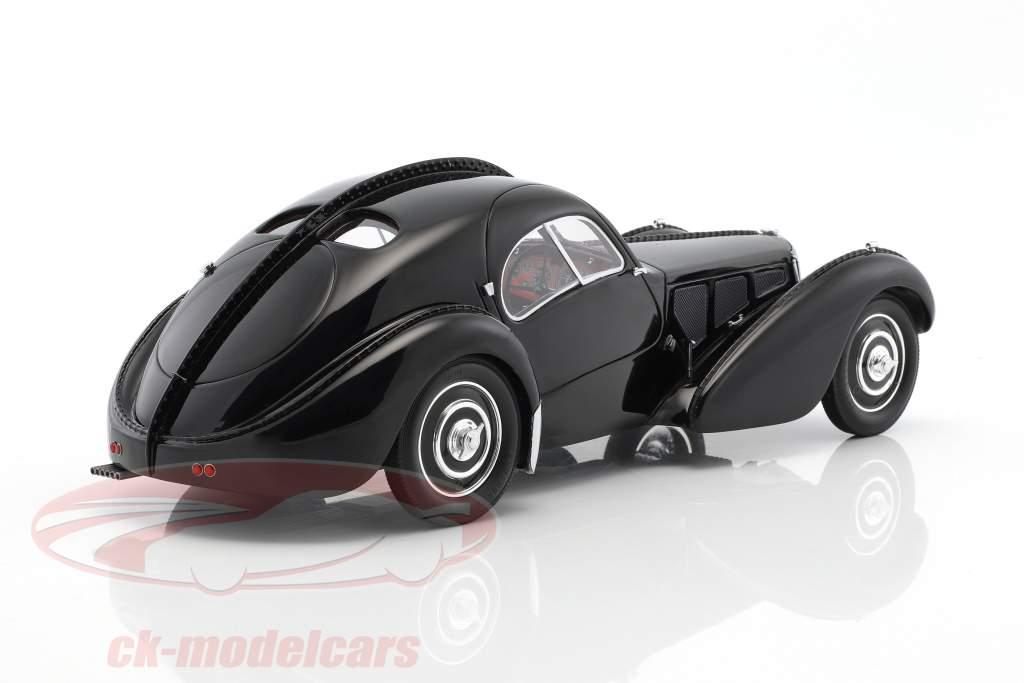 Bugatti T57 SC Atlantic RHD année de construction 1938 noir 1:18 BoS-Models
