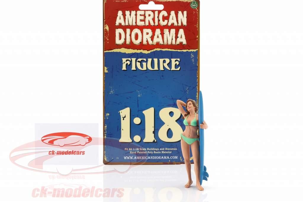 Surferin Paris Figur 1:18 American Diorama