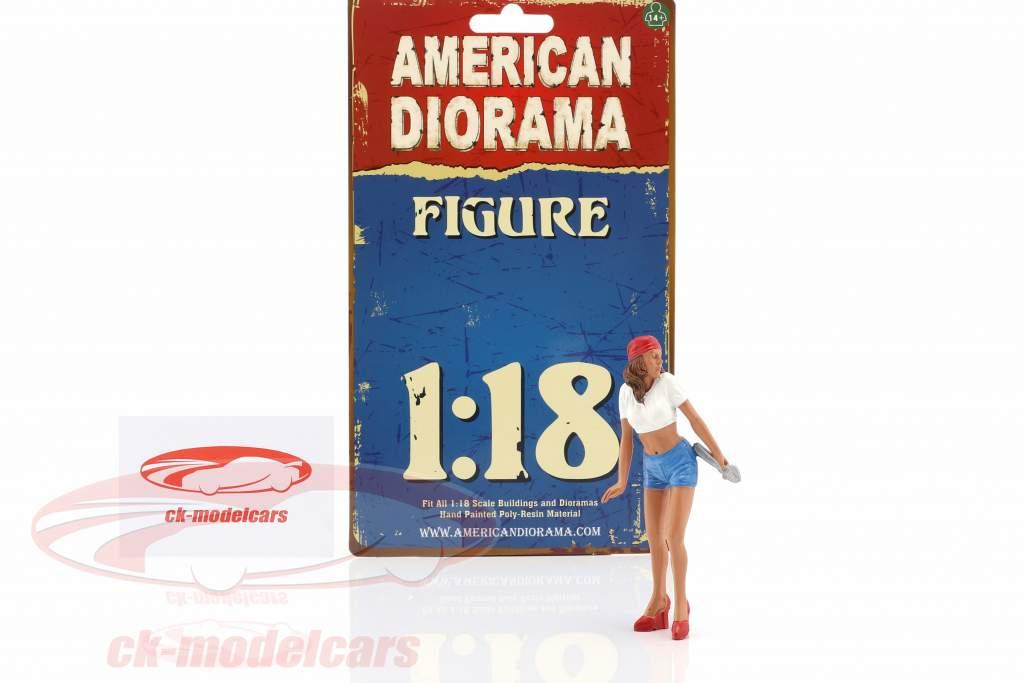 Mechanic Katie figure 1:18 American Diorama