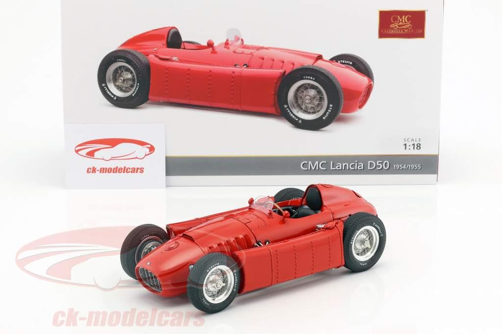 Lancia D50 année de construction 1954-1955 rouge 1:18 CMC