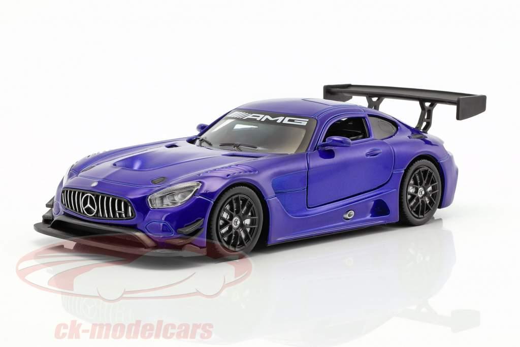 Mercedes-Benz AMG GT3 année de construction 2016 bleu métallique 1:24 MotorMax
