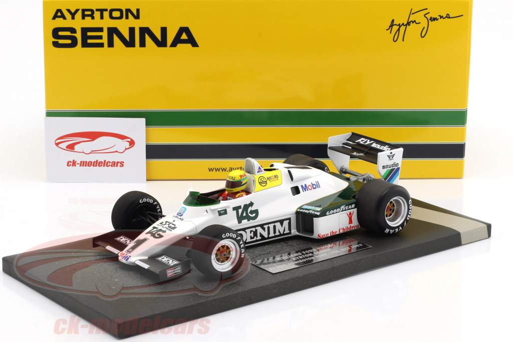 Ayrton Senna Williams Ford FW08C #1 July test Donington Park formula 1 1983 1:18 Minichamps