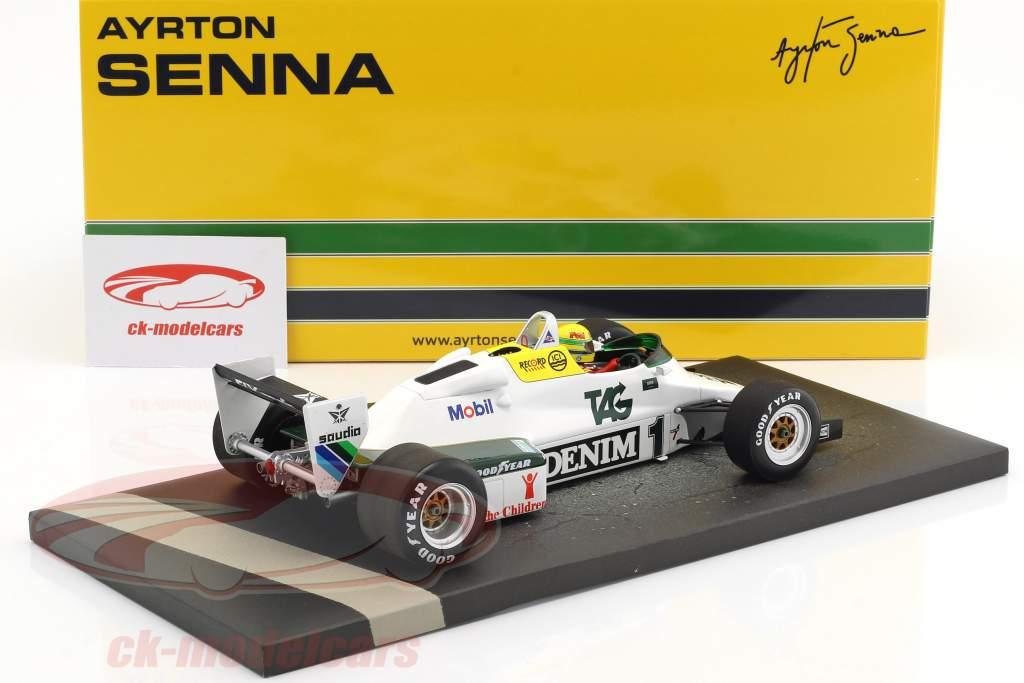 Ayrton Senna Williams Ford FW08C #1 test di luglio Donington Park formula 1 1983 1:18 Minichamps