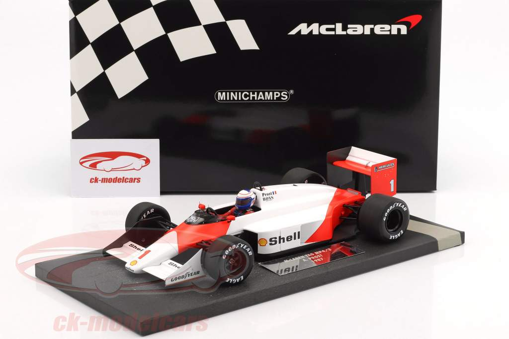 Alain Prost McLaren MP4/3 #1 formula 1 1987 1:18 Minichamps