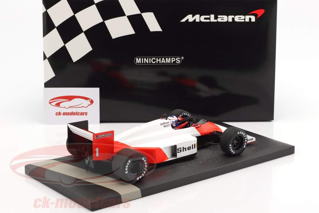 Alain Prost McLaren MP4/3 #1 formule 1 1987 1:18 Minichamps