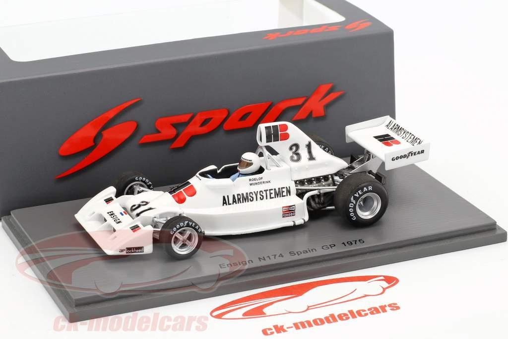 Roelof Wunderink Ensign N174 #31 espagnol GP formule 1 1975 1:43 Spark