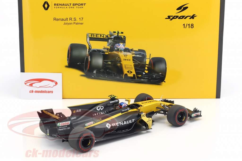 Jolyon Palmer Renault R.S.17 #30 bahrain GP formula 1 2017 1:18 Spark