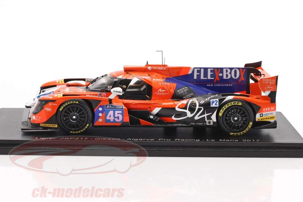 Ligier JS P217 #45 24h LeMans 2017 Patterson, McMurry, Capillaire 1:43 Spark