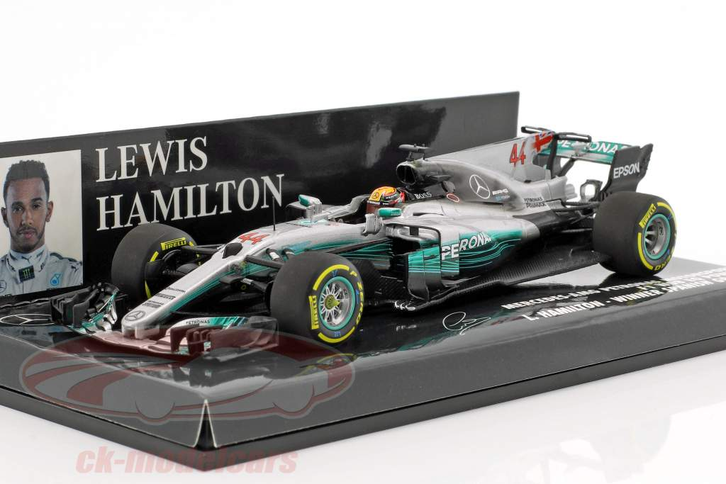 L. Hamilton Mercedes F1 W08 EQ Power #44 World Champion Spain GP F1 2017 1:43 Minichamps