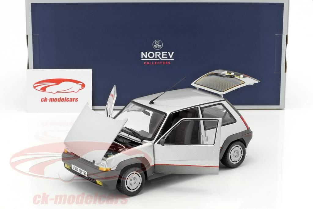 Renault SuperCinq GT Turbo année de construction 1985 argent métallique 1:18 Norev