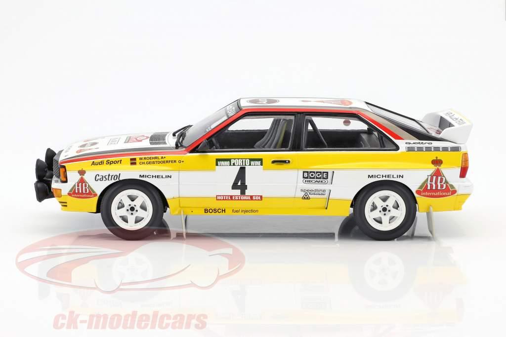 Audi Quattro A2 #4 Röhrl, Geistdörfer Rally Portugal 1984 1:18 Minichamps
