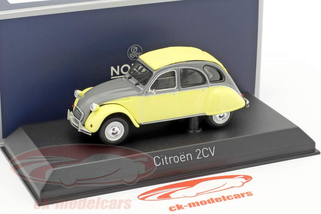 Citroen 2CV Dolly year 1985 rialto yellow / cormoran gray 1:43 Norev