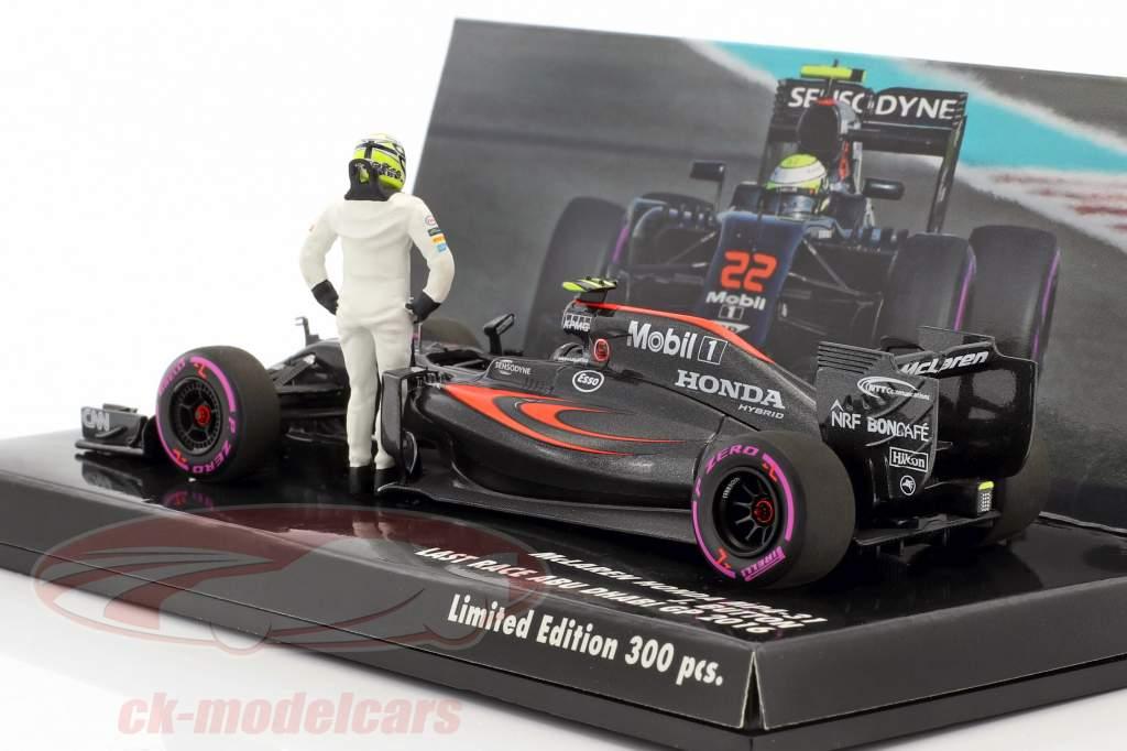 J. Button McLaren MP4-31 #22 last race Abu Dhabi formula 1 2016 1:43 Minichamps