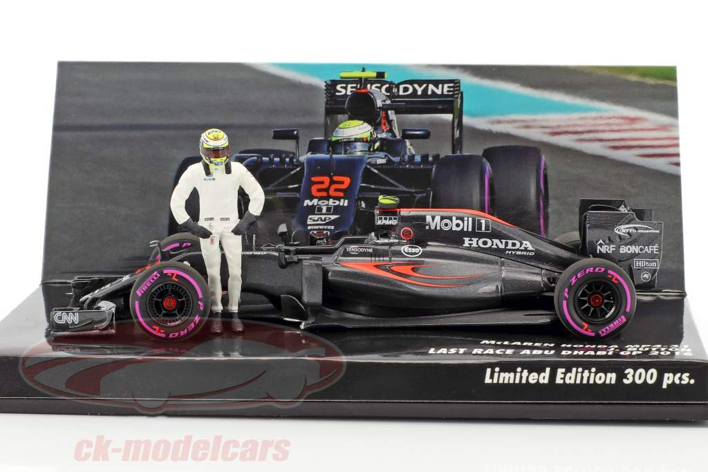 ck modelcars 533164022 j button mclaren mp4 31 22 last race abu dhabi formule 1 2016 1 43. Black Bedroom Furniture Sets. Home Design Ideas