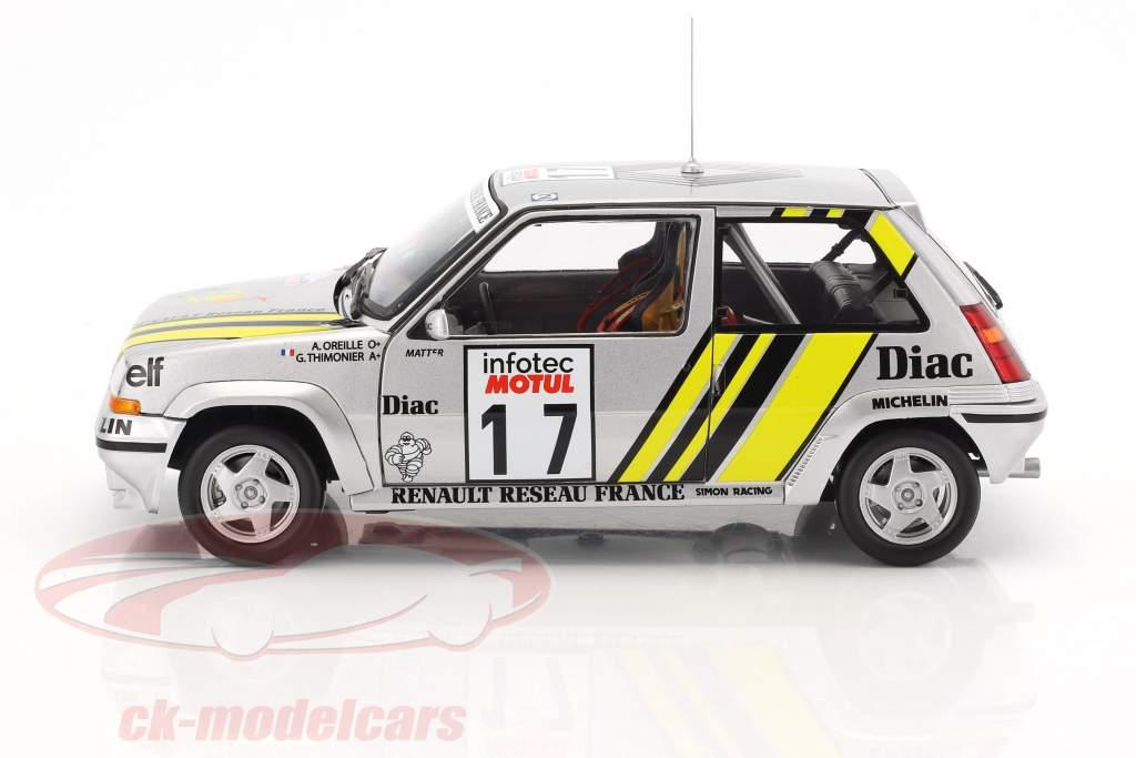 Renault SuperCinq GT Turbo #17 Tour de Corse 1989 Ragnotti, Thimonier 1:18 Norev