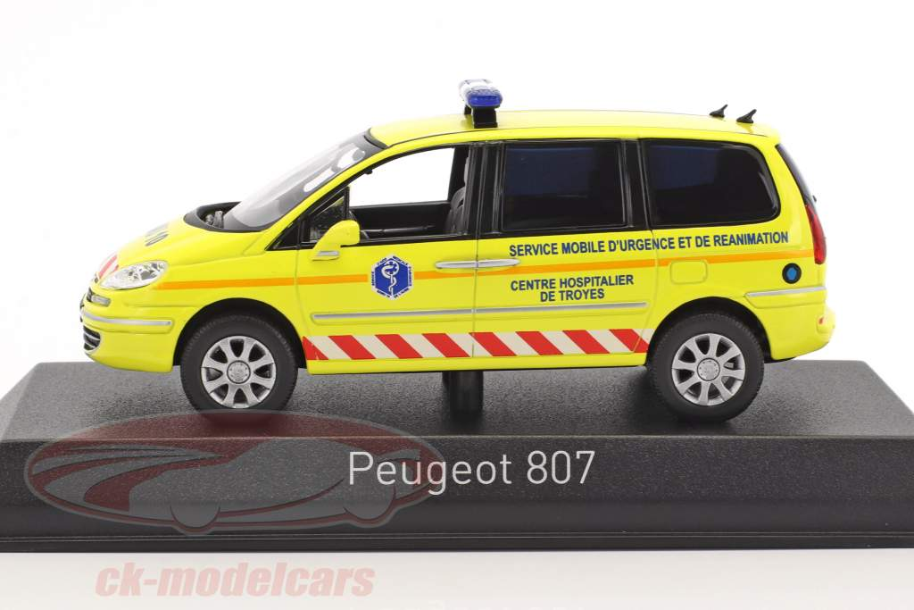 Peugeot 807 SAMU Ambulance year 2013 yellow 1:43 Norev