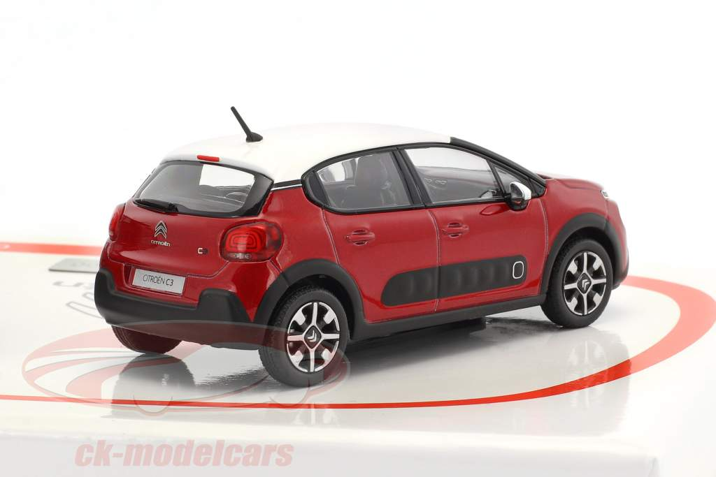 2-Car Set Citroen C3 & Citroen C3 Aircross Baujahr 2017 rot 1:43 Norev