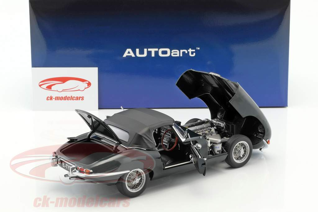 Jaguar E-Type Roadster Series I 3.8 Baujahr 1961 british racing grün 1:18 AUTOart