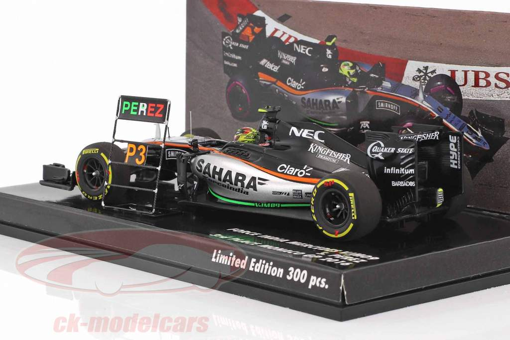 ck modelcars 447160111 sergio perez force india vjm09 11 3 monaco gp formule 1 2016 1 43. Black Bedroom Furniture Sets. Home Design Ideas