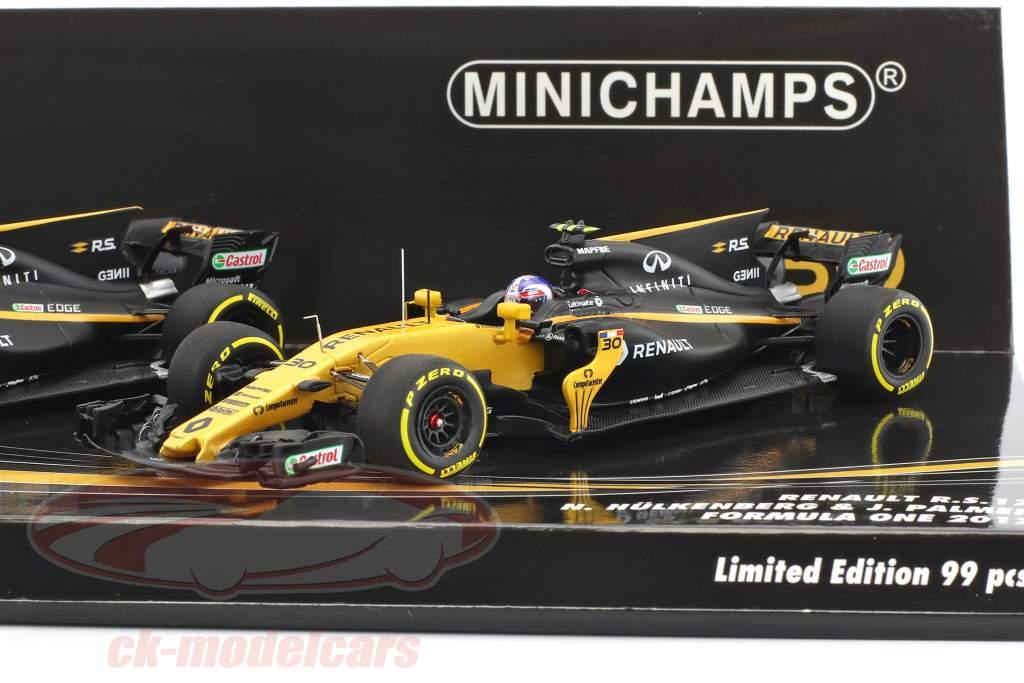 N. Hülkenberg #27 & J. Palmer #30 2-Car Set Renault R.S.17 Formel 1 2017 1:43 Minichamps