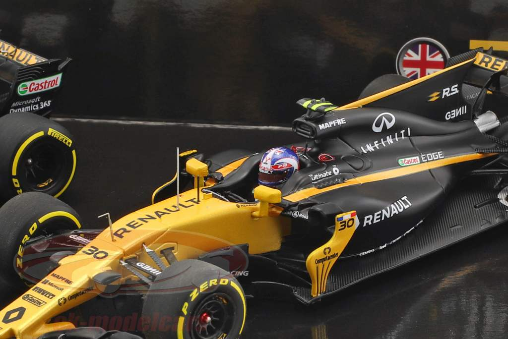 N. Hülkenberg #27 & J. Palmer #30 2-Car Set Renault R.S.17 formula 1 2017 1:43 Minichamps