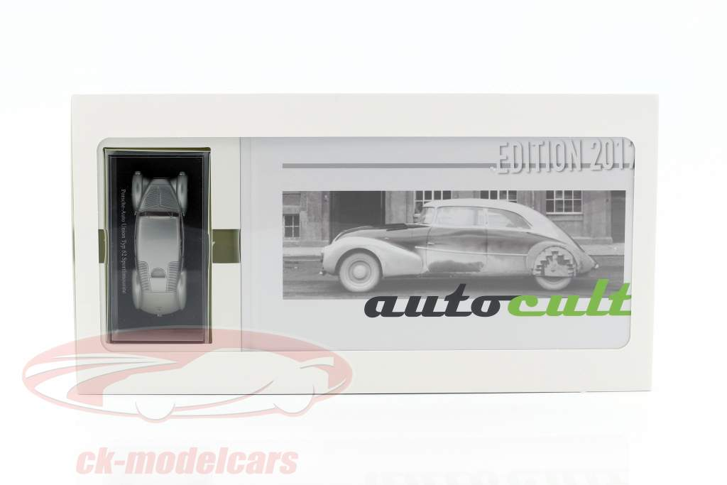 Porsche-Auto Union Typ 52 Sport sedan silver / yearbook DE 2017 1:43 AutoCult