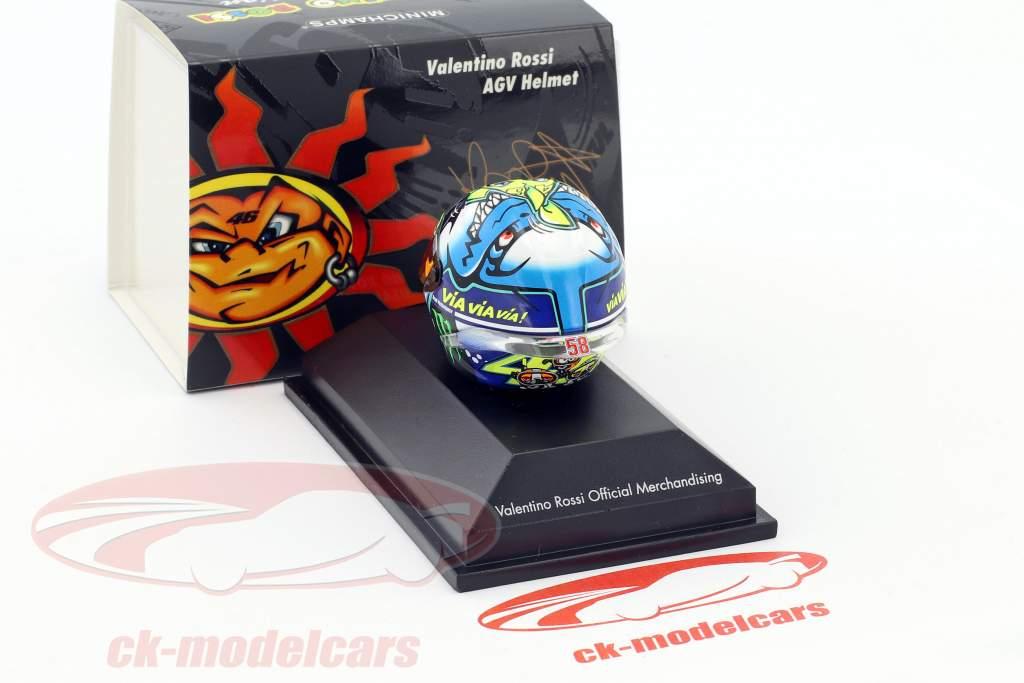 Valentino Rossi MotoGP Misano 2015 AGV casco 1:8 Minichamps