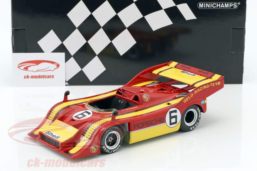 Porsche 917/10 Gelo-Racing-Team #6 vincitore Interserie Zandvoort 1975 Tim Schenken 1:18 Minichamps