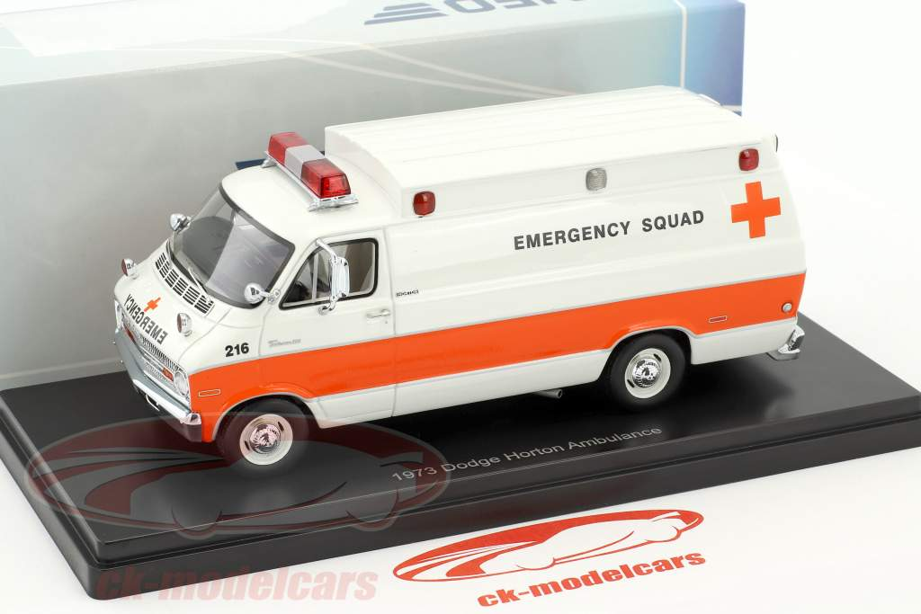 Dodge Horton ambulance année de construction 1973 blanc / orange 1:43 Neo