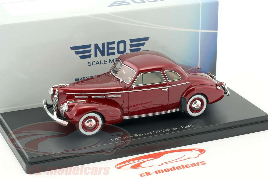 LaSalle Series 50 coupe year 1940 dark red metallic 1:43 Neo