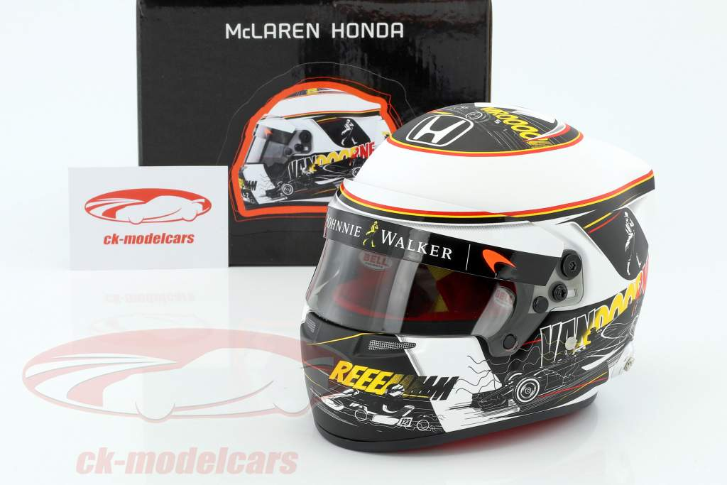 Stoffel Vandoorne McLaren Honda Belgium GP formula 1 2017 helmet 1:2 Bell