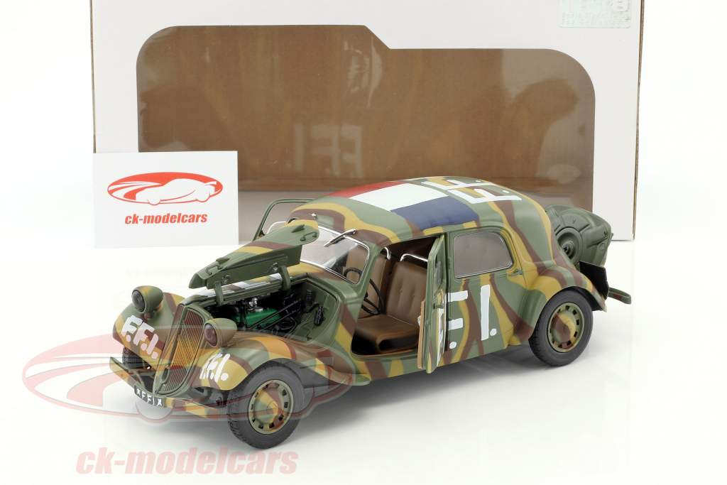 Citroen Traction 11CV FFI year 1944 camouflage 1:18 Solido