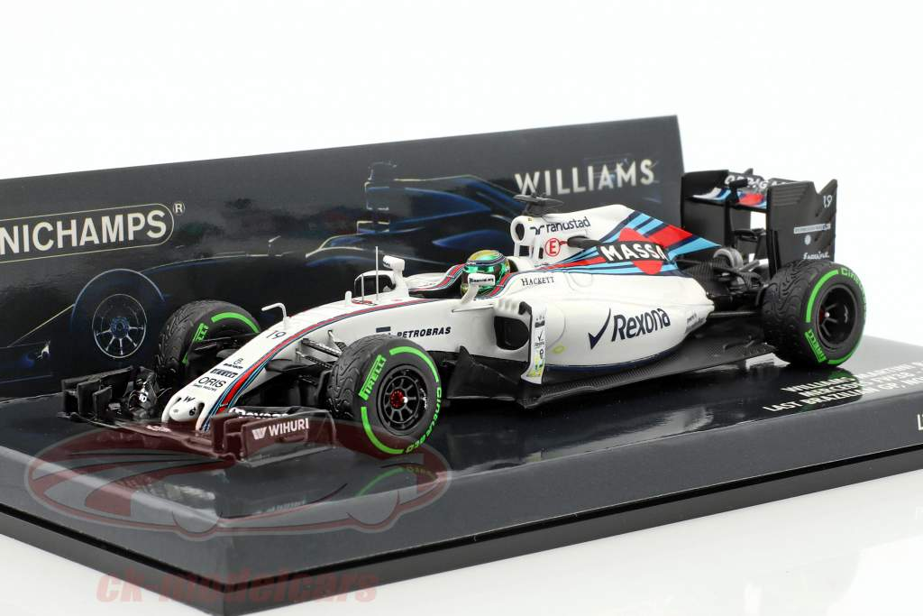 Felipe Massa Williams FW38 #19 almost last Race formula 1 2016 1:43 Minichamps