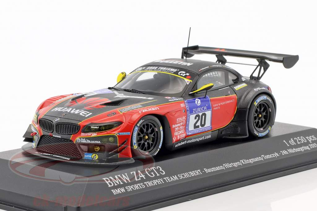 BMW Z4 GT3 #20 24h Nürburgring 2015 Baumann, Hürtgen, Klingmann, Tomczyk 1:43 Minichamps