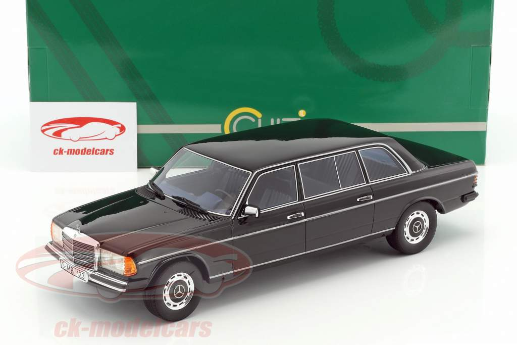 Mercedes-Benz V123 long année de construction 1978 noir 1:18 Cult Scale