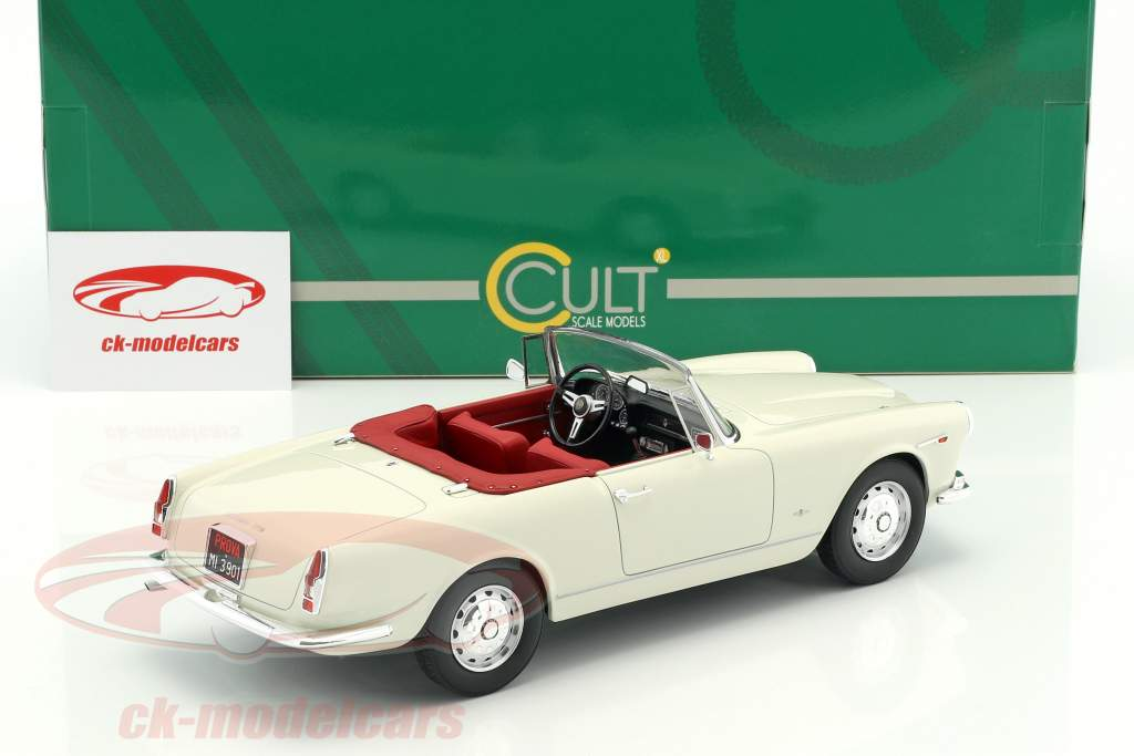 Alfa Romeo 2600 Spider Touring year 1961 white 1:18 Cult Scale