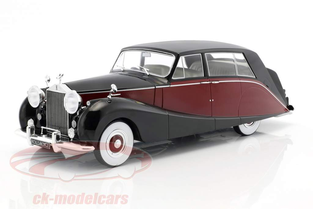 Rolls Royce Silver Wraith Empress by Hooper black / dark red 1:18 Model Car Group