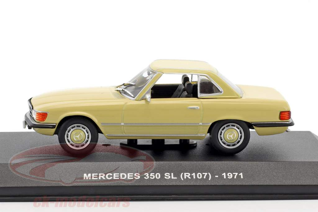 Mercedes-Benz 350 SL (R107) year 1971 yellow 1:43 Solido