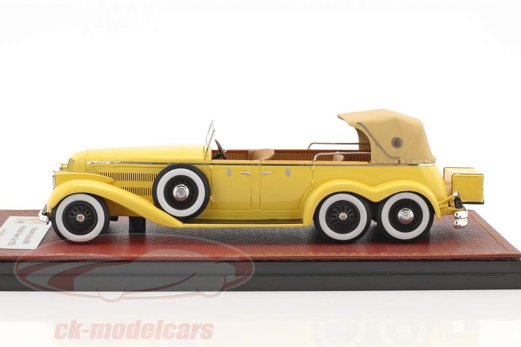 Hispano Suiza H6A Victoria Town Car Closed version Construction year 1923 yellow 1:43 GLM