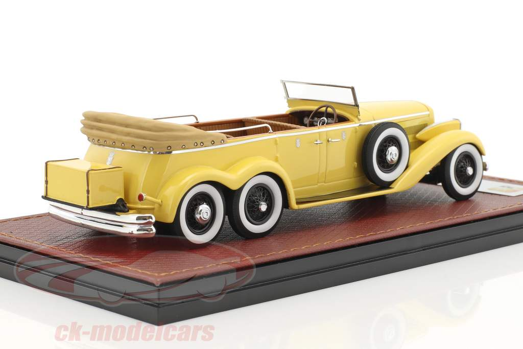 Hispano Suiza H6A Victoria Town Car Open version Construction year 1923 yellow 1:43 GLM