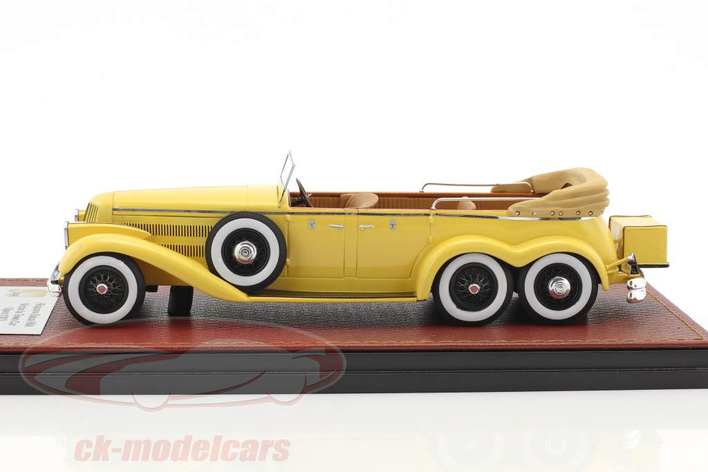 Hispano Suiza H6A Victoria Town Car Open Version Baujahr 1923 gelb 1:43 GLM